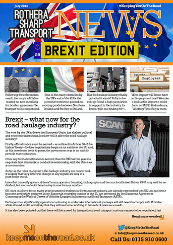 Brexit newsletter cover