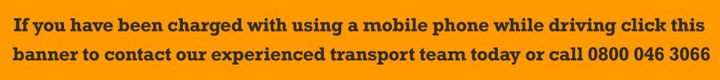 KMOTR banner mobile phone driving