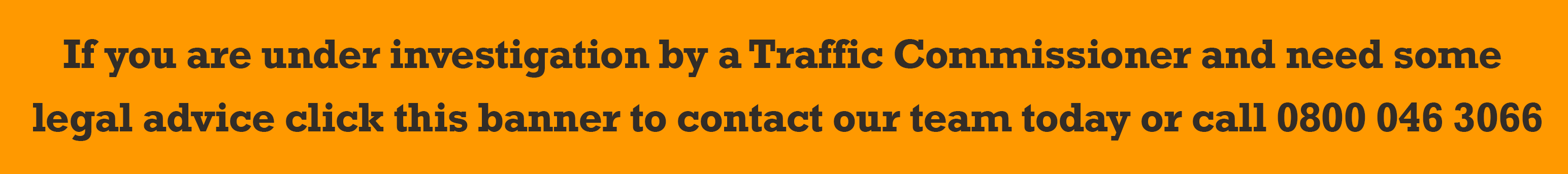 Traffic Commissioners - Keep Me On The Road, Solicitors, Transport Law